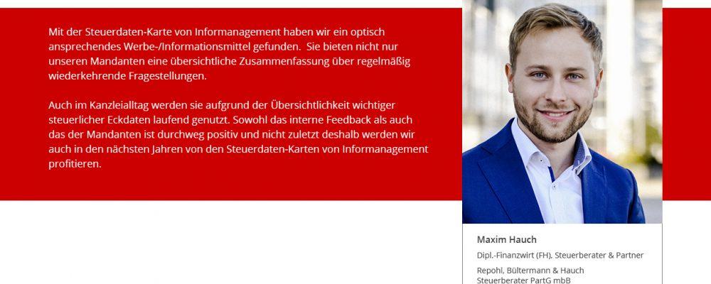 MaximHauch-steuerdatenkarten